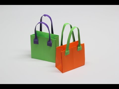 종이가방, 종이가방 접기, 종이접기, origami bag, paper bag, 놀이, 육아, first video, 첫영상