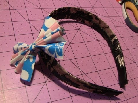 How to make Duct tape Headband bows!