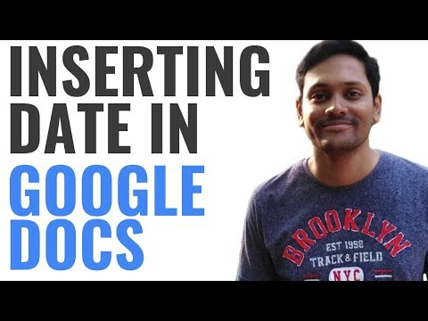 How to Insert Date into Google Docs