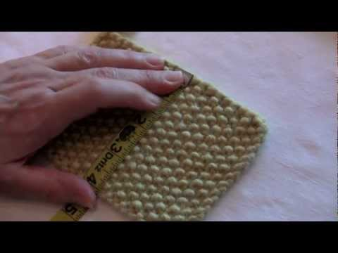 Urban Knitters' Tutorial #13: Making a Gauge Swatch, Pt. 1