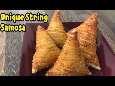 Unique String Samosa / String Samosa First Ever On Youtube/ Ramadan Recipes By Yasmin's Cooking