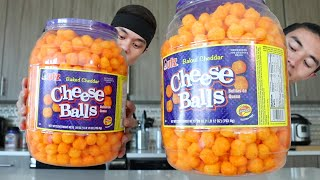 Download Double CHEESE BALL BARREL Challenge!! (ft. Morgan) Video