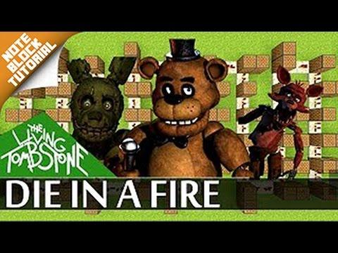 Die in a fire - Fnaf 3 - Minecraft |Note Block Song + Doorbell Tutorial| (The Living Tombstone)