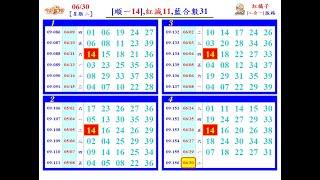 本支影片中(17),今彩539 (獨支)版路  6月30日 週二,上期中(07 18 31)