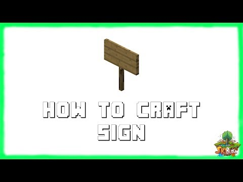 Minecraft 1.12.2: How to Make SIGNS! Recipe Tutorial for Minecraft 1.12.2 | 2018