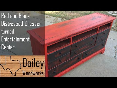 Painting and Distressing a Dresser