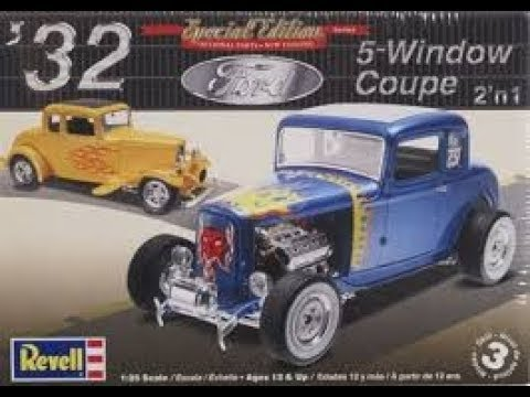 6:18 KIT REVIEW Revell 32 Ford 5 Window Coupe 2 n 1