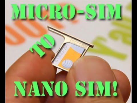 How to Cut Micro SIM to Nano SIM!