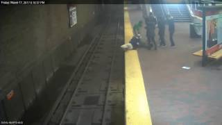Man rescued from tracks of MBTA station
