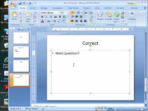 Quiz in PPT 2007