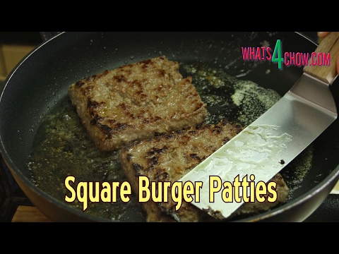 How to Make Square Burger Patties - Perfect Burger Patty Production with No Specialized Equipment!!!