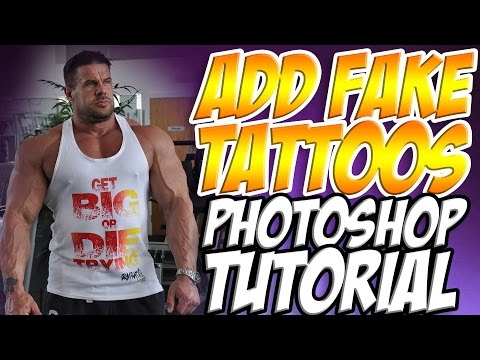 How to add Tattoos in Photoshop - Photoshop Tutorials Free