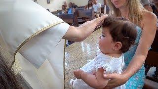 Batizado Da Laura No Brasil!! Igreja Em Santos Sp - Daily Vlog Em Familia Férias Brancoala