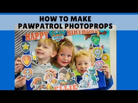 How to make Paw patrol photo frame prop | Birthday Party