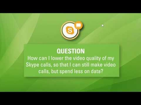 How to lower quality of video calls on Skype for less data consumption.
