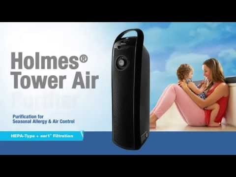 Holmes® Tower Air Purifier with Visipure™ Filter Viewing Window - HAP9423 UA Smoke Chamber Video