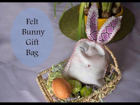 Easy Easter Bunny Gift Bag tutorial
