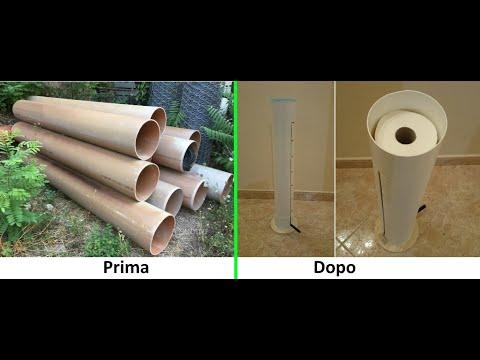 Porta carta igenica da un tubo di PVC