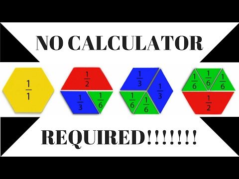 HOW TO CALCULATE WITHOUT CALCULATOR,...1/2,2/3,3/7... OF A NUMBER!!