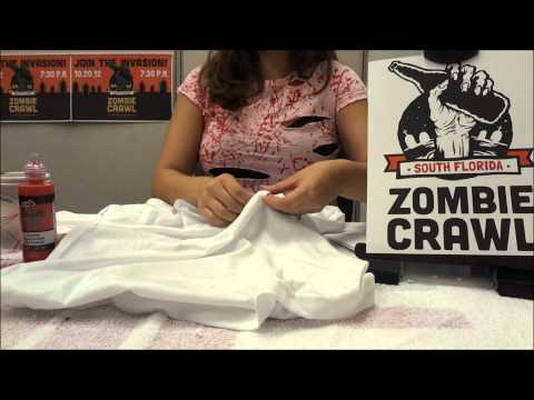 How To Make A Zombie Shirt Costume