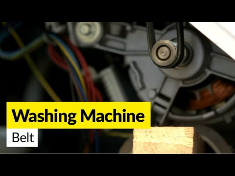 How to fit a Difficult Washing Machine Drive Belt