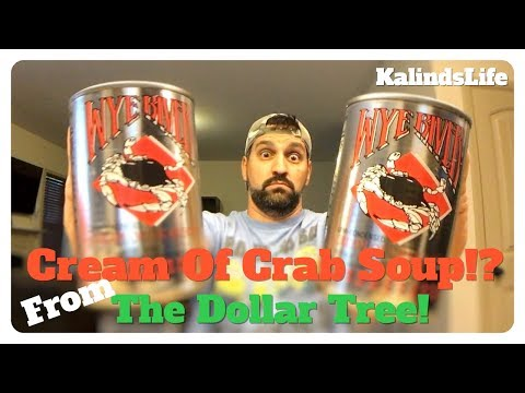Wye River Cream of Crab Soup Taste Test   From The Dollar Tree!