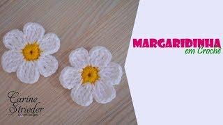 Margaridinha de Crochê por Carine Maria Strieder
