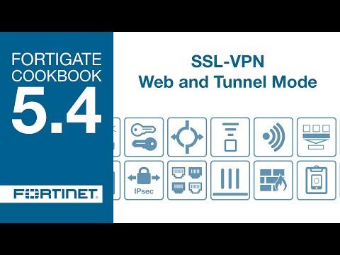 FortiGate Cookbook - SSL VPN Web and Tunnel Mode (5.4)