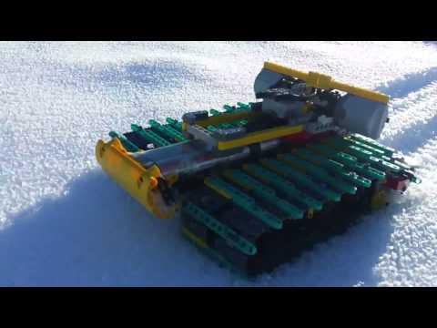 lego technic in snow