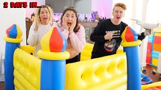 LAST TO LEAVE THE MINI BOUNCY HOUSE WINS $10,000 CHALLENGE!