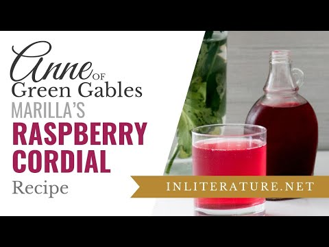 Raspberry Cordial from Anne of Green Gables | Food in Literature