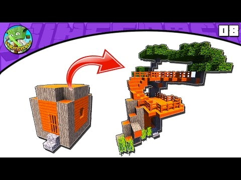 Minecraft Tutorial: Transform an Acacia DIRT House