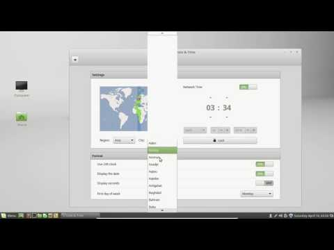 Introduction to Linux Mint - #15 Change Date and time