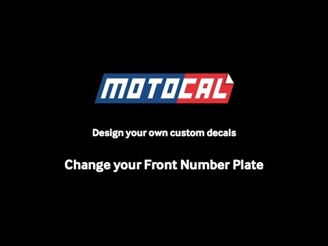 Choose a different Front Number Plate