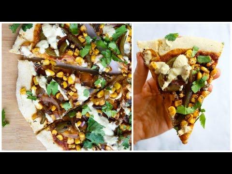 Loaded Enchilada Pizza Pie // EPIC Vegan Recipe!