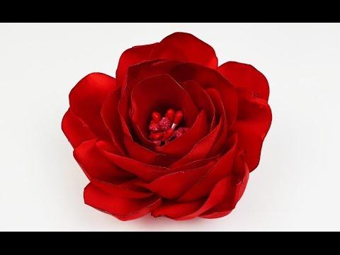How to make ribbon rose I DIY ribbon flower I Flower Tutorial