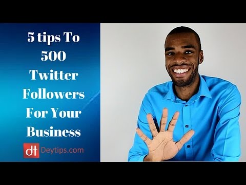 Gain Twitter Followers For Your Business With 5 Simple Steps