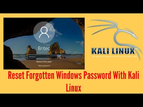Reset Forgotten Windows Password With Kali Linux