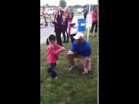 Little Girl Wins Big Playing the Fuel Rewards Network Cornhole game