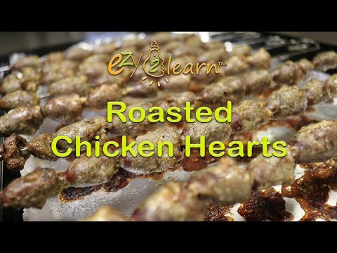 How to cook Roasted Chicken Hearts Recipe with Garlic Mayonnaise in oven by ezy2learn