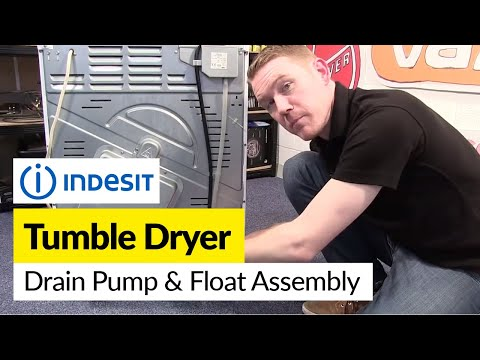 How to Replace the Drain Pump and Float Assembly on a Hotpoint, Indesit or Creda Tumble Dryer