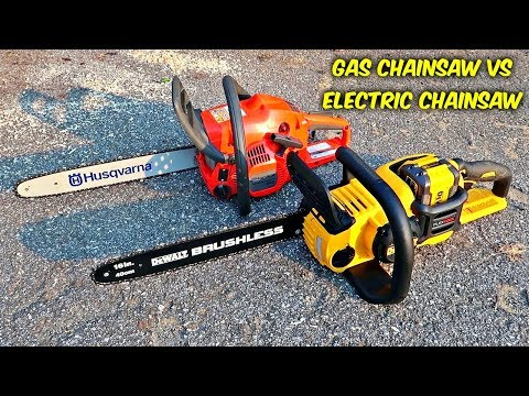 Gas Chainsaw vs Electric Chainsaw