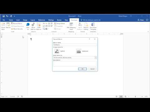 Quick Tip: Microsoft Word: Record a Macro