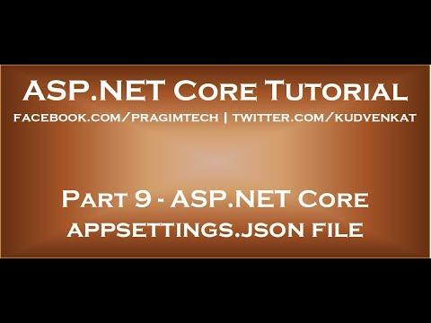 ASP NET Core appsettings json file