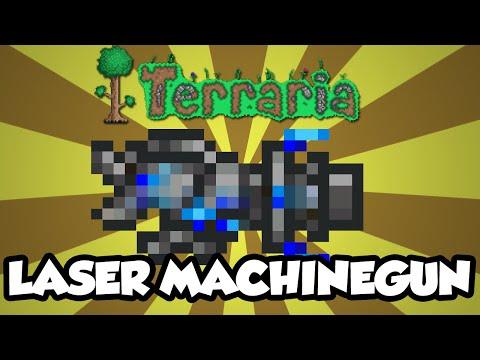 Terraria 1.3 Items - The 'Laser Machinegun' - New Terraria 1.3 Weapons / Items