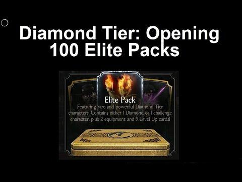 MKX Mobile: Diamond Tier, Opening 100 Elite Packs ...