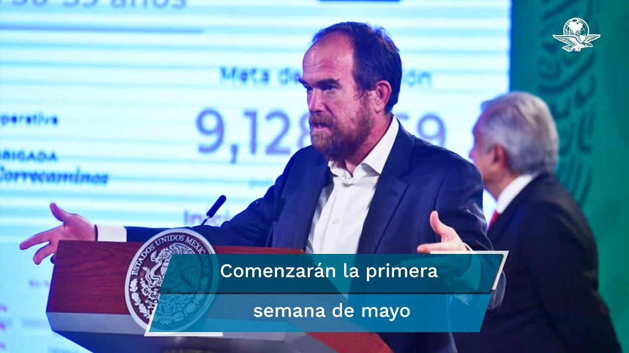 Anuncian plan de vacunación para adultos de 50 a 59 años en México; comienza el pre registro