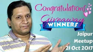 Sharmaji Diwali Giveaway Winners | Jaipur Meetup 21 Oct 2017