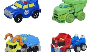Transformers Rescue Bots Rescan 2015 Series 01 - Chase, Boulder, Salvage & Optimus Prime