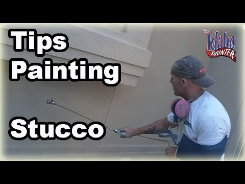 How To Prep & Paint Stucco.  Painting Stucco With A Paint Sprayer.